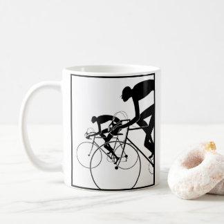 Taza De Café La bicicleta retra siluetea 2 1986