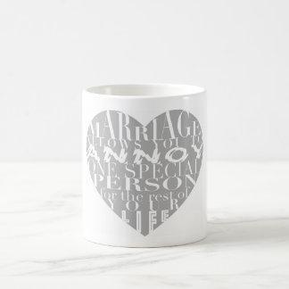 Taza De Café La boda, permite que usted moleste (gris) - su