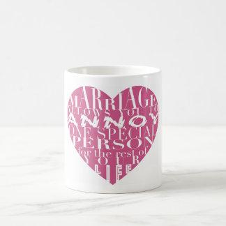 Taza De Café La boda, permite que usted moleste (las rosas