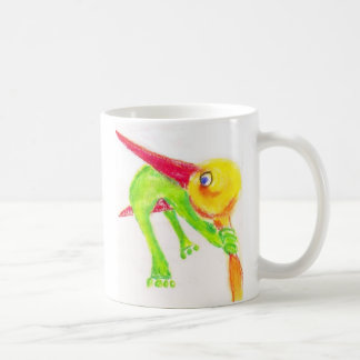 Taza De Café la cigüeña-rana corrige