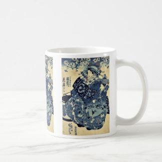 Taza De Café La cortesana Hanao de Ogiya por Utagawa, Kuniyoshi
