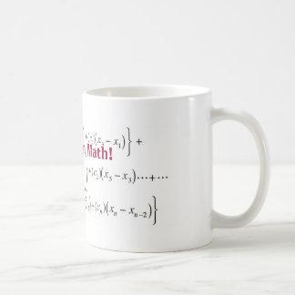 Taza De Café ¡la ecuación, allí no es ningún i en matemáticas!