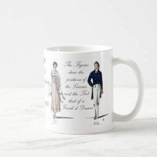 Taza De Café La edad de Jane Austen contra danza Contradance