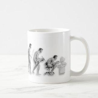 Taza De Café La evolución del hombre revisada
