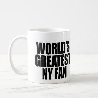 Taza De Café La fan más grande de Nueva York del mundo