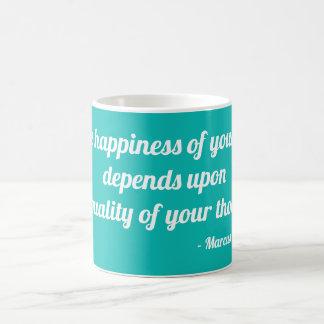 Taza De Café La felicidad de su vida depende de…