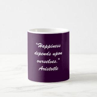"""Taza De Café La """"felicidad depende de nosotros mismos. """""""
