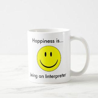 Taza De Café La felicidad… está siendo un intérprete