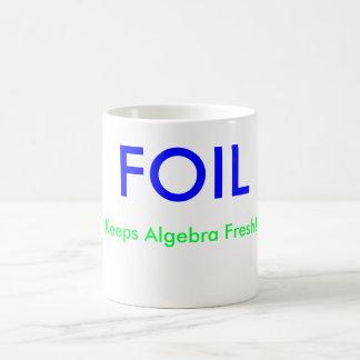 Taza De Café ¡La HOJA, mantiene álgebra fresca! , X =, Y =