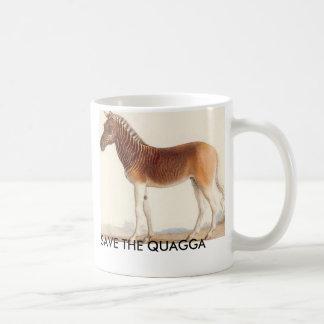 Taza De Café la imagen del quagga, AHORRA EL QUAGGA