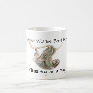 Taza De Café La mejor mamá de los mundos, un abrazo grande en