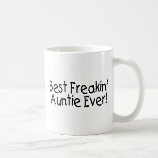 Taza De Café La mejor tía Ever de Freakin