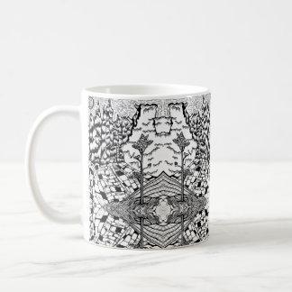 Taza De Café La naturaleza blanca negra intrépida texturiza la