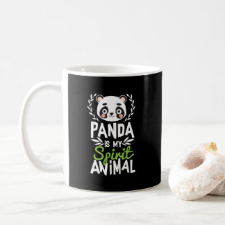 Taza De Café La panda linda es mi estampado de animales del