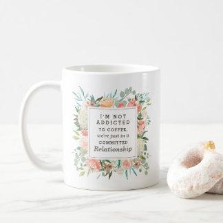 Taza De Café La primavera se ruboriza adicto floral al café de