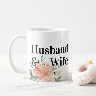 Taza De Café La primavera se ruboriza esposa floral del marido