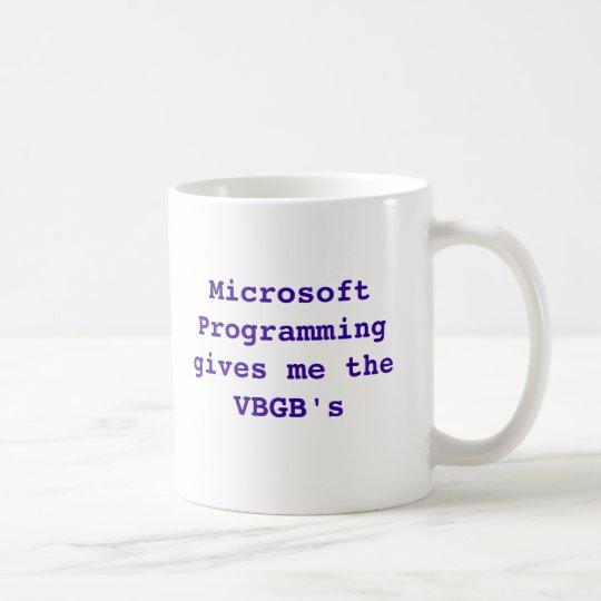 Taza De Café La programación de Microsoft me da los VBGB