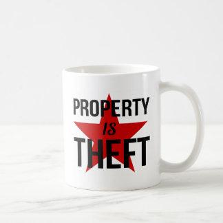 Taza De Café La propiedad es hurto - comunista socialista del