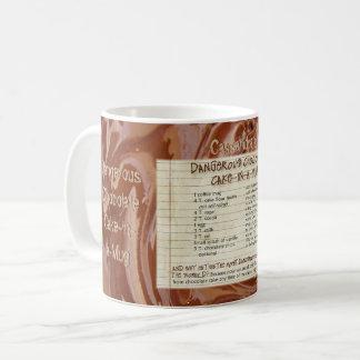 Taza De Café La torta de chocolate en una receta de la taza,