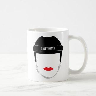 Taza De Café Labios de la cara del casco del hockey de las