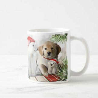 Taza De Café Labrador de oro y el oso polar