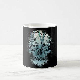 Taza De Café Lado oscuro del cráneo y del bosque