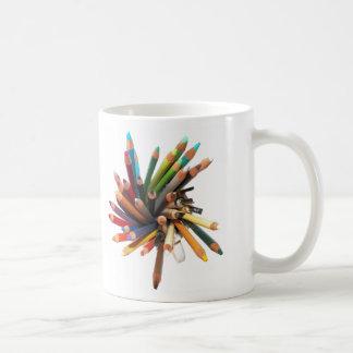 Taza De Café Lápices coloreados artistas del aceite