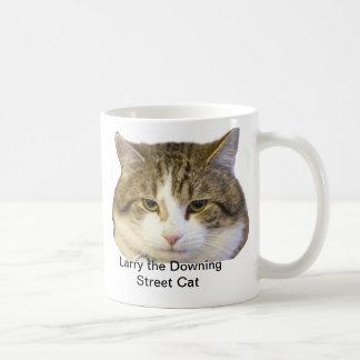 Taza De Café Larry la cara del gato del Downing Street - ratas