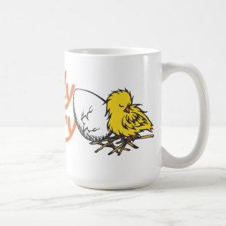 Taza De Café Las aves de corral asaltan puramente