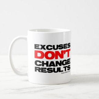 Taza De Café Las excusas no cambian resultados