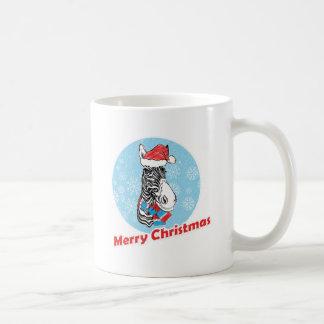 Taza De Café Las Felices Navidad de la cebra