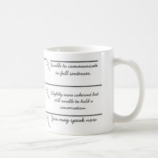 Taza De Café Las líneas del terraplén usted puede ahora hablar
