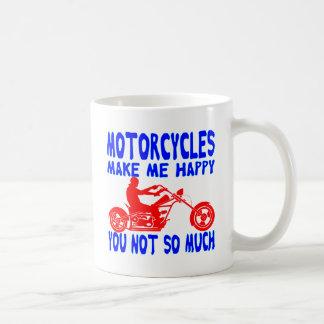 Taza De Café Las motocicletas le hacen me feliz no tanto