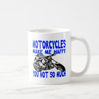 Taza De Café Las motocicletas le hacen me feliz no tanto 2