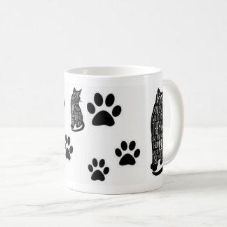 Taza De Café Las mujeres y los gatos contra frase divertida de