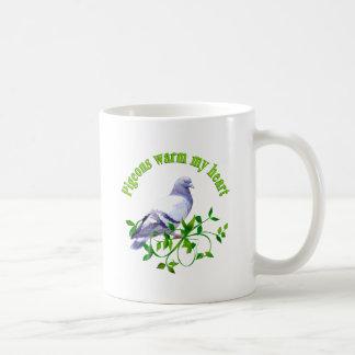 Taza De Café Las palomas calientan mi corazón