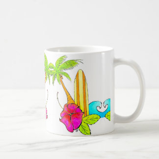 Taza De Café Las resacas suben sensación tropical clásica de la