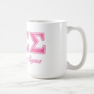 Taza De Café Letras del rosa de la sigma de la sigma de la phi