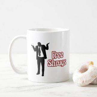 Taza de café libre divertida de los encogimientos