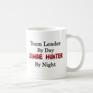 Taza De Café Líder de equipo/cazador del zombi