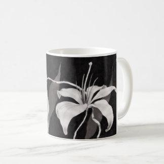 Taza De Café Lilly negro y blanco