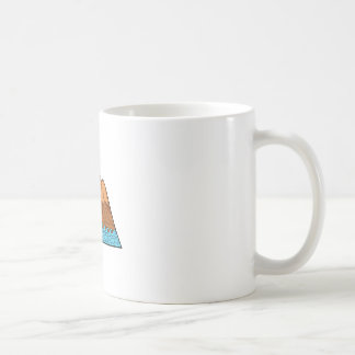Taza De Café Línea desigual de las ondas de montaña mono