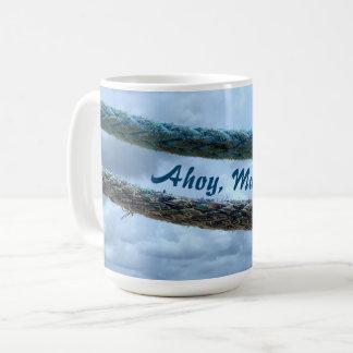 Taza De Café Líneas de amarre Ahoy afables