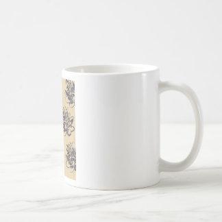 Taza De Café Lirios de agua de oro dos