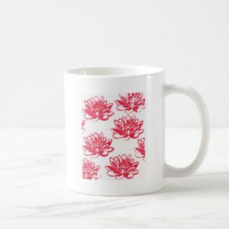 Taza De Café Lirios de agua roja