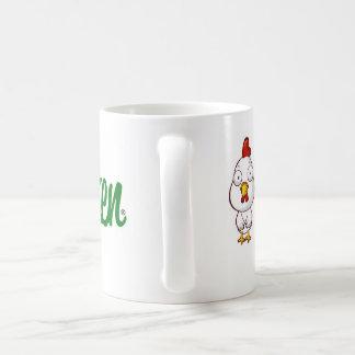 Taza de café llana del pollo