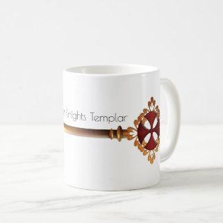 Taza De Café Llave de oro al tesoro de los caballeros Templar