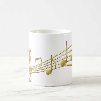 Taza De Café Llave de oro del violín