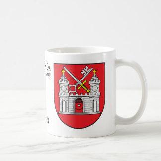 Taza De Café Llave medieval y espada del castillo de Tartu