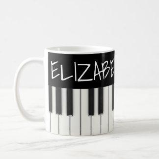 Taza De Café Llaves de encargo del piano